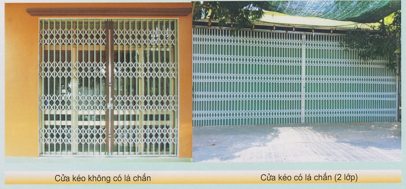 Phân biệt cửa kéo Đài Loan có lá chắn và cửa kéo Đài Loan không có lá chắn