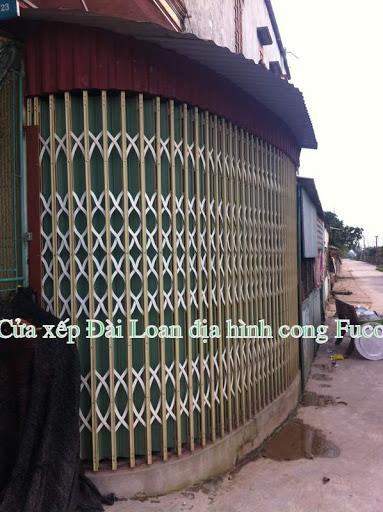 Cửa xếp, cửa kéo Đài Loan cho địa hình vòng cung