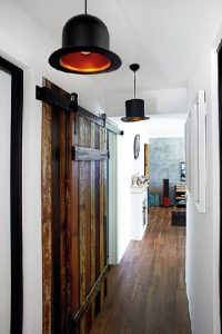 cửa kéo kết hợp với gỗ